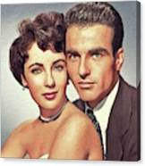 Elizabeth Taylor And Montgomery Clift, Hollywood Legends Canvas Print
