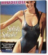 Elle Macpherson Swimsuit 1987 Sports Illustrated Cover Canvas Print