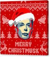 Elon Musk Merry Christmusk Canvas Print