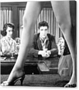Elvis Presley Framed Between Womans Legs Canvas Print
