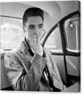 Elvis Presley In A Car Canvas Print
