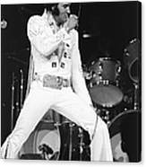 Elvis Presley On Stage During His 1972 Canvas Print