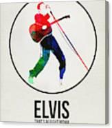 Elvis Presley Watercolor Canvas Print