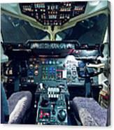 Empty Aeroplane Cockpit Canvas Print