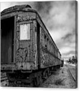 End Of The Line Bw Canvas Print