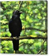 Enjoying Forest Light Canvas Print
