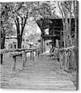 Entering Town Canvas Print