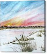 Ephemeral Sunset Canvas Print