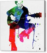 Eric Clapton Watercolor Canvas Print