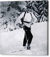 Ernest Hemingway Skiing Canvas Print
