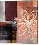 Espresso Flower 1-  Art By Linda Woods Canvas Print