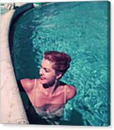 Esther Williams In Pool Canvas Print