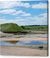 estuary on river Aln at Alnmouth Canvas Print