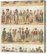 European Traditional Ethnic Folklore Canvas Print