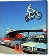 Evel Knievel In Flight Canvas Print