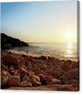 Evening Glow At Porth Nanven Canvas Print