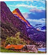 Evening On The Fjord  Canvas Print