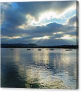 Evening On Windermere In Lake District National Park Canvas Print