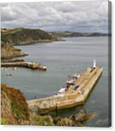 Evening Over Mevagissey Harbour  Canvas Print