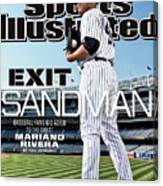 Exit Sandman Baseball Fans Bid Adieu To The Great Mariano Sports Illustrated Cover Canvas Print