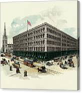 Exterior Of A T Stewart Department Store Canvas Print