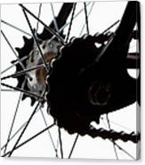 Extreme Close Up Of Chain And Spokes Canvas Print