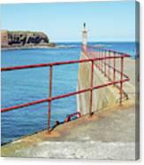 Eyemouth Harbour Pier Entrance Canvas Print