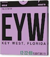Eyw Key West Luggage Tag I Canvas Print