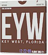 Eyw Key West Luggage Tag II Canvas Print