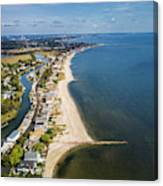 Fairfield Beach Connecticut Aerial Canvas Print