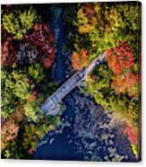 Fall Aerial With Bridge Canvas Print