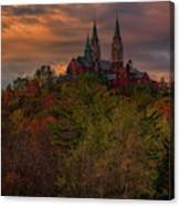 Fall Clouds Over Holy Hill Canvas Print
