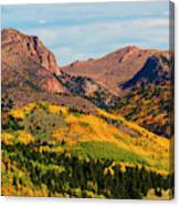 Fall Colors On The North Face Of Pikes Peak Canvas Print