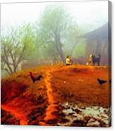 Family On A Hill In Sapa, Vietnam Canvas Print