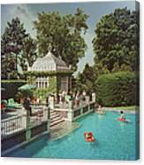 Family Pool Canvas Print