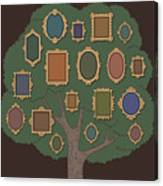 Family Tree With Several Old-fashioned Canvas Print