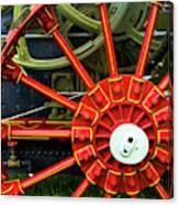 Fancy Tractor Wheel Canvas Print
