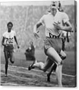 Fanny Blankers-koen Winning 100-meter Canvas Print
