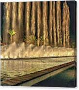 Fantacy Fountain Night Lit San Pedro Gateway Canvas Print