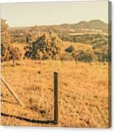 Farm Fields Of Eumundi, Sunshine Coast Canvas Print