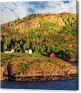 Farm On The Edge Canvas Print