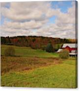 Farmland In Autumn Canvas Print
