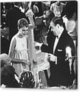 Farrow & Sorenson At Black & White Ball Canvas Print