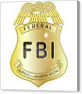 Fbi Badge Canvas Print