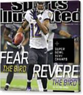Fear The Bird, Revere The Bird Super Bowl Xlvii Champs Sports Illustrated Cover Canvas Print