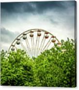 Ferris Wheel Behind Trees Canvas Print