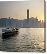 Ferry Boat To Hong Kong Canvas Print
