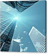 Financial District, Canary Wharf In Canvas Print