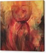 Fire Earth Latte Stone Canvas Print