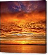 Fire Over Lake Eustis Canvas Print